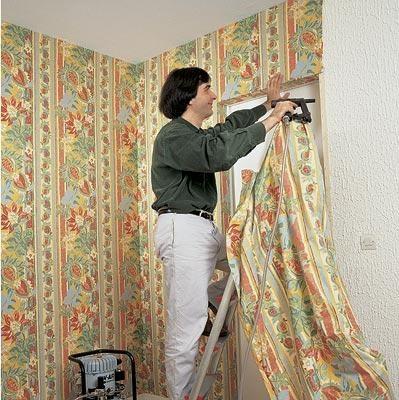 Как сделать стену из ткани