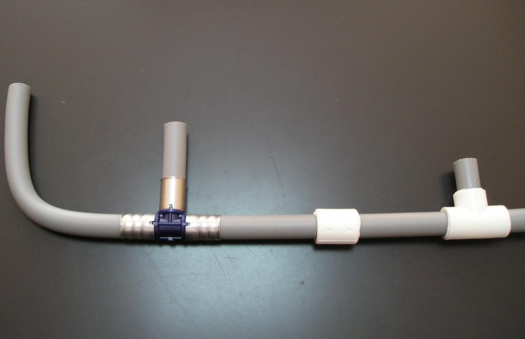 соединение трубы с септиком